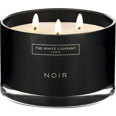 Black & White Home Round Candles, Large Candles, Black Candles, Wood Wick Candles, Candles And Candleholders, Tin Candles, Scented Candles, White Company Candles, The White Company