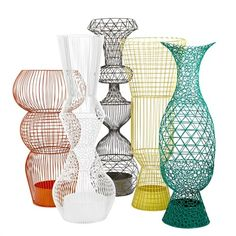Wire vase XXL white - pols potten
