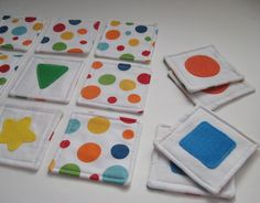 Pre-School Memory Game  Should be easy enough to make :)