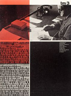 Cover design for Typographische Monatsblätter. Designer: Unidentified. 1960 / Issue 3