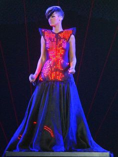 Bad Girl Rii back at it again with her innovative styles! All hail the LED dress, I am absolutely in love.