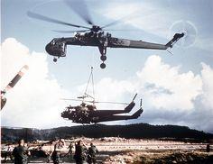 Sikorsky CH-54 flying crane used in Vietnam