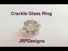 Crackle Glass Ring--Intermediate Tutorial - YouTube