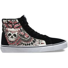Vans Stormy Bird SK8-Hi Reissue (1.581.230 VND) ❤ liked on Polyvore featuring men's fashion, men's shoes, men's sneakers, multi, mens vintage shoes, vans mens shoes, mens high top sneakers, vintage mens sneakers and mens high top shoes