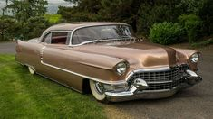 "1955 Cadillac Coupe Deville - Brandon Penserini von Altissimo Restaurierung - Cars from ""Belle Époque"" - Cadillac Ats, American Classic Cars, Ford Classic Cars, American Auto, Bmw I3, Toyota Prius, Vintage Cars, Antique Cars, Vintage Paper"