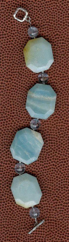 Bracelet  Amazonite Blue Quartz Sterling Silver by ChicStatements, $45.00