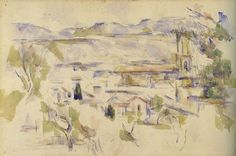 Paul Cézanne - Aix cathedral seen from the studio at Les Lauves