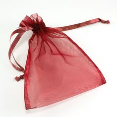 "Sheer Organza Bags with Drawstrings 5"" x 6.5"""