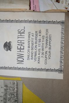 VHS High School Marching Band Benefit Flyer - 8/17/1993