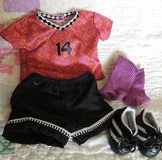 AMERICAN GIRL DOLL SOCCER OUTFIT AND SHOES