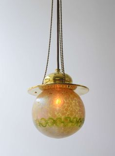 Vienna Secession Furniture | Precious Vienna Secession Hanging Lamp by Loetz Witwe image 5