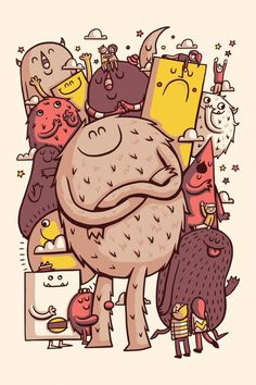 More monsters by Greg Abbott Cute Monster Illustration, Illustration Main, Character Illustration, Doodle Monster, Monster Art, Cartoon Monsters, Cute Monsters, Sea Monsters, Vexx Art