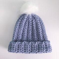Ravelry: Chunky Hat pattern by Sofia Bailey Chunky Hat Pattern, Chunky Crochet Hat, Chunky Yarn, Double Crochet, Knitted Hats, Crochet Beanie, Chrochet, Crochet Hooks, Free Crochet