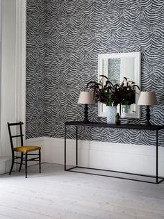 Zebra White / Black Wallpaper by Graham and Brown