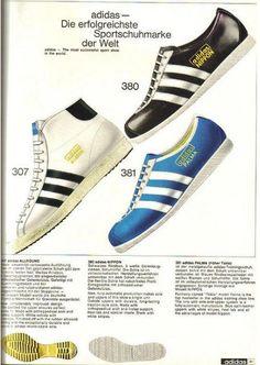 German Adidas Catalogue, 1968. Adidas All Round. Adidas Nippon. Adidas  Palma.