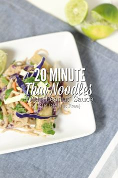 "Easy 20 Minute Thai Noodles With ""Peanut"" Sauce -"