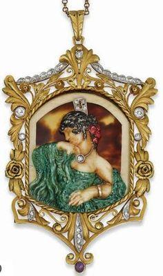 Altri Complementi D'arredo Honest Art Nouveau Ciotola Ninfe Stile Liberty Ciotola Decorativa Personaggi Femminili Arredamento D'antiquariato