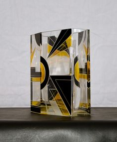 Art Deco Czechoslovakian Glass Six Faceted Vase | From a unique collection of antique and modern vases at http://www.1stdibs.com/dining-entertaining/vases/