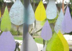 Recycled raindrops sun catchers