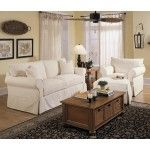 Klaussner - Jenny Sofa and Chair Set in Bull Natural Fabric - D16100-S-C  SPECIAL PRICE: $1,939.00