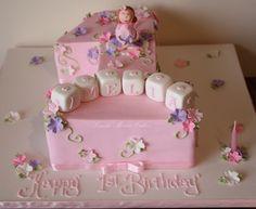 first birthday cake - baby girl