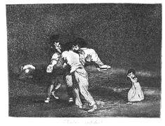 Goya: Los desastres de la guerra. Desastre nº 50, ¡Madre infeliz!