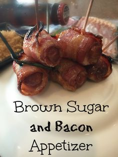 Brown Sugar and Bacon Appetizer - Week 11 Tailgating - All Things Bacon http://livedan330.com/2015/11/19/2015-week-11-tailgating-with-all-things-bacon/2/