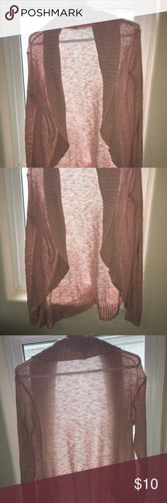 Rubbish Light Pink Flowy Cardigan Size Med Long, light weight open cardigan in very light pink color. Has some piling. Rubbish Sweaters Cardigans