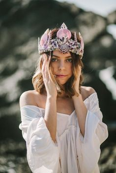 magical gorgeous trendy seashell crown