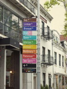 To honor World Pride, New York City is renaming the iconic Gay Street in Greenwich Village to be more inclusive. For two weeks, Gay… newyorkstreet West Village, Marie Claire, Commission On Human Rights, Stonewall Inn, Street Installation, Sign Installation, Two Spirit, Greenwich Village, Street Signs