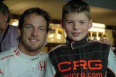 Jenson Button and Little Max Verstappen