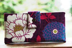 Vegan iphone wallet in vivid florals by happykathy on Etsy