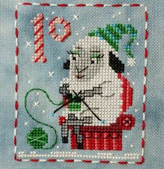 Animal Advent Calendar Day 10 Sheila Sheep.  Counted Cross Stitch. 2016