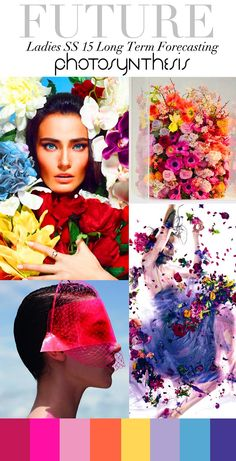 Trend Council:  Ladies SS15 Long Term Forecasting - Photosynthesis.  Bold flower jewellery, bright stones set into high shine gold.