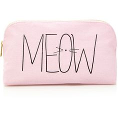 Forever 21 Meow Kitty Print Makeup Pouch