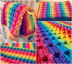 Bobble Stitch Rainbow Blanket