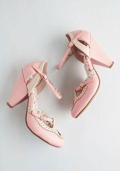 Triple Your Fancy Heel in Bubblegum   Mod Retro Vintage Heels   ModCloth.com