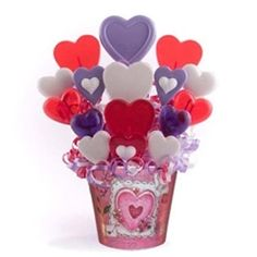 Valentine's Day Candy Bouquet Heart of Hearts Lollipop