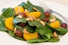 Receta de Ensalada de Espinacas con Mandarinas
