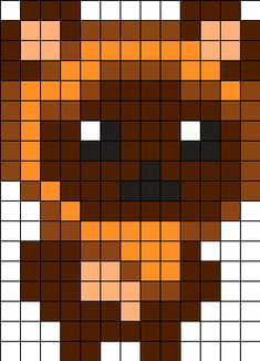 Ewok - Star Wars Perler Bead Pattern