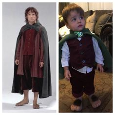 DIY Frodo toddler Halloween costume. Lord of the Rings has never looked cuter!!!!