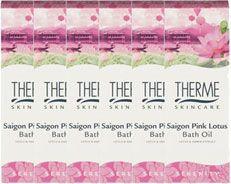 Therme Saigon Pink Lotus Bath Oil Voordeelverpakking 6x100ml  Geniet van een weldadig aromabad met een romantische en luxueuze geurbeleving van de Saigon Pink Lotus Badolie. Naast de geestelijke ontspanning wordt de huid gevoed door de badolie en voelt deze weer zijdezacht aan.  EUR 30.72  Meer informatie  http://ift.tt/2uWJ5BO #drogist