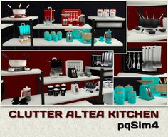 Clutter Altea Kitchen. Sims 4 Custom Content. - pqSim4