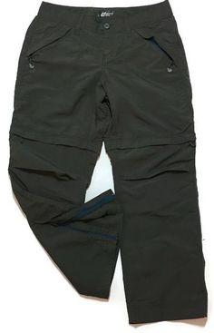 Eddie Bauer Sport Zip-off Convertible Pants Shorts 6P Army Green Low Rise Hiking #EddieBauerSport #ConvertiblePants
