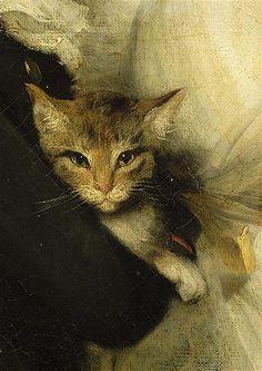 Young woman and boy holding a cat (detail), John Hoppner (1758-1810)
