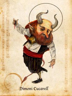 El Dimoni Cucarell miquelrossellocalafell.wordpress.com  miquel rossello calafell-aosda saoghalan  demon
