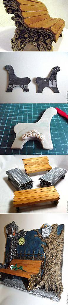 إنشاء مقاعد البدلاء مصغرة - معرض الماجستير - اليدوية، وصناعة يدوية