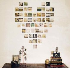 Cute picture hanging idea. I may do it with tape for the husband for Valentine's Day.