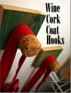 how to make a wine cork coat hook or coat rack #DIYStamp 4H on end?