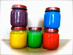 Homemade Edible (Baby) Paint. # Baby Activities # Things to Do with Babies # Arts and Crafts
